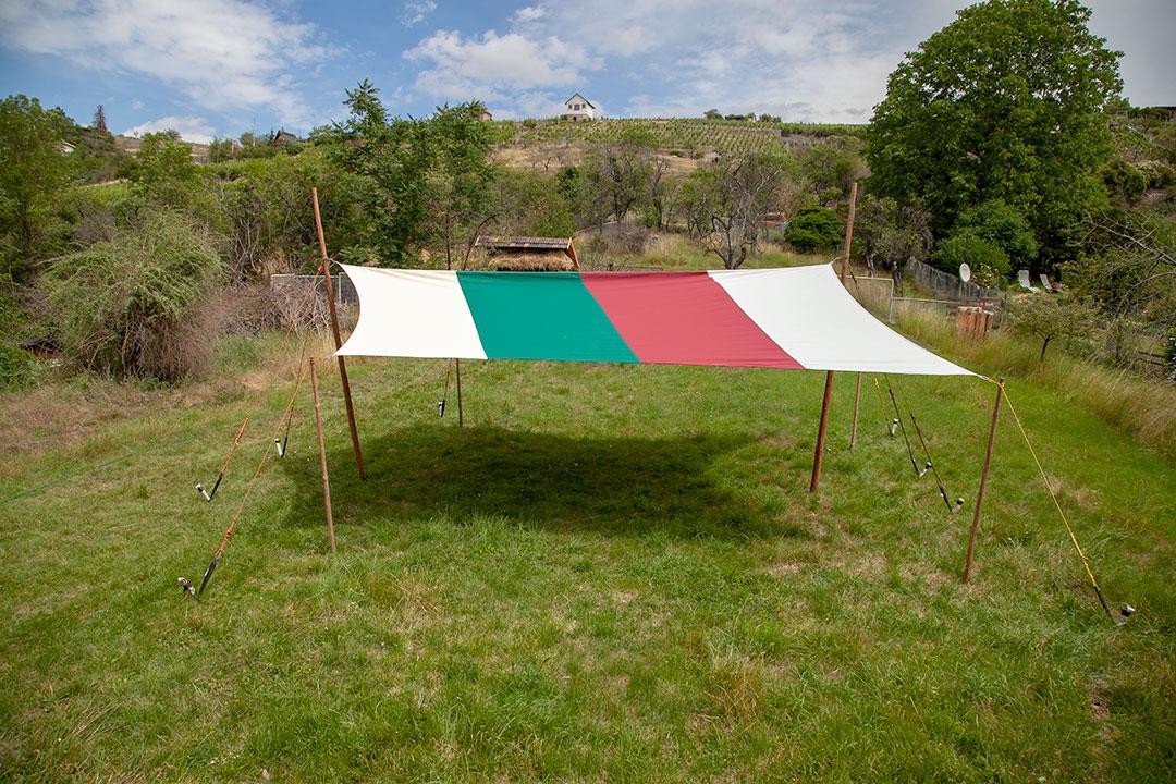 Satteldach im Freien